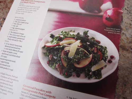 Read more about the article Recipe: Kale Salad with Pomegranate and Maple Pecans