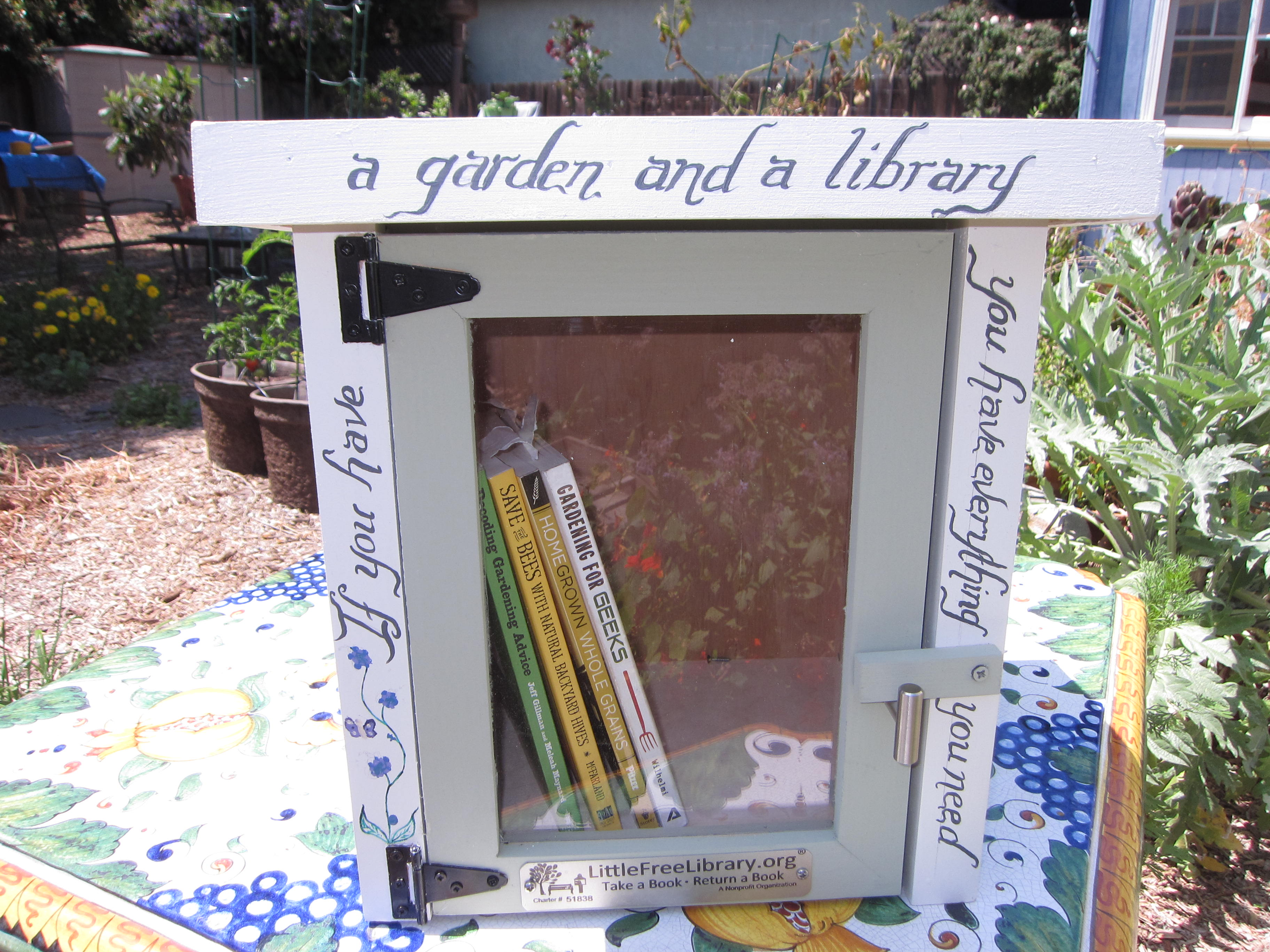 Little Free Library calligraphy