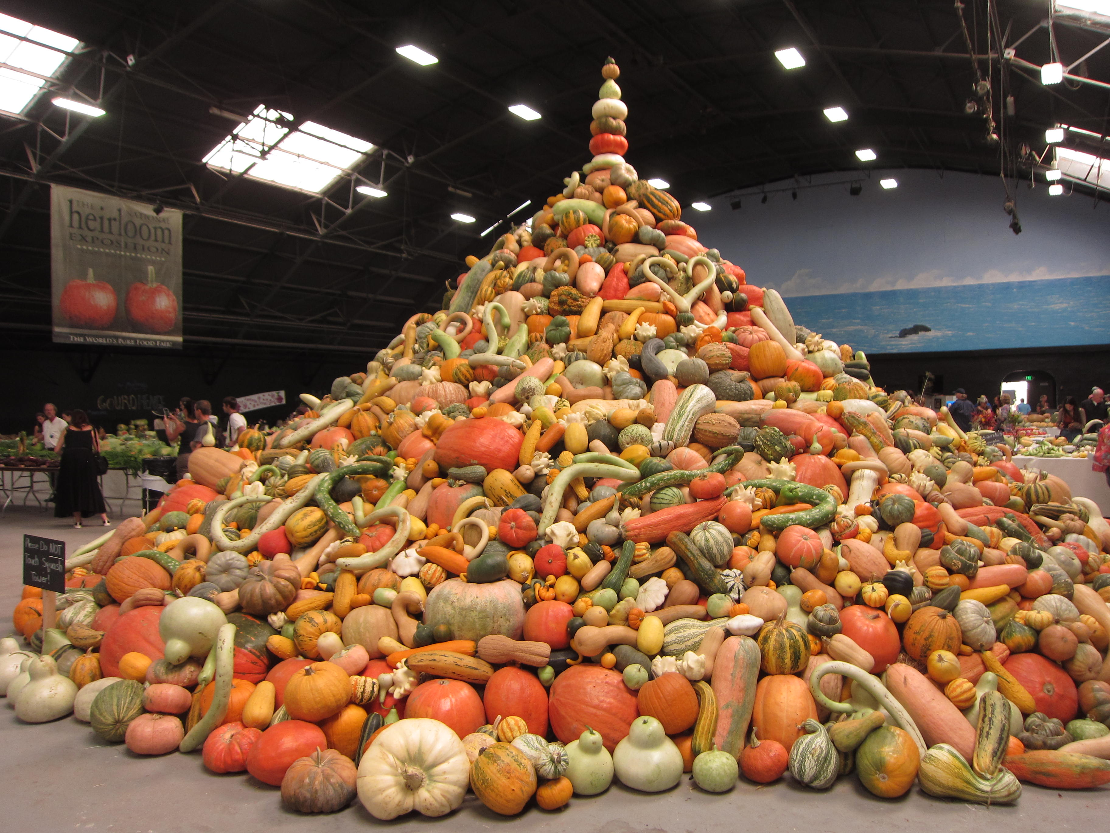 Tower of Squash Heirloom Expo