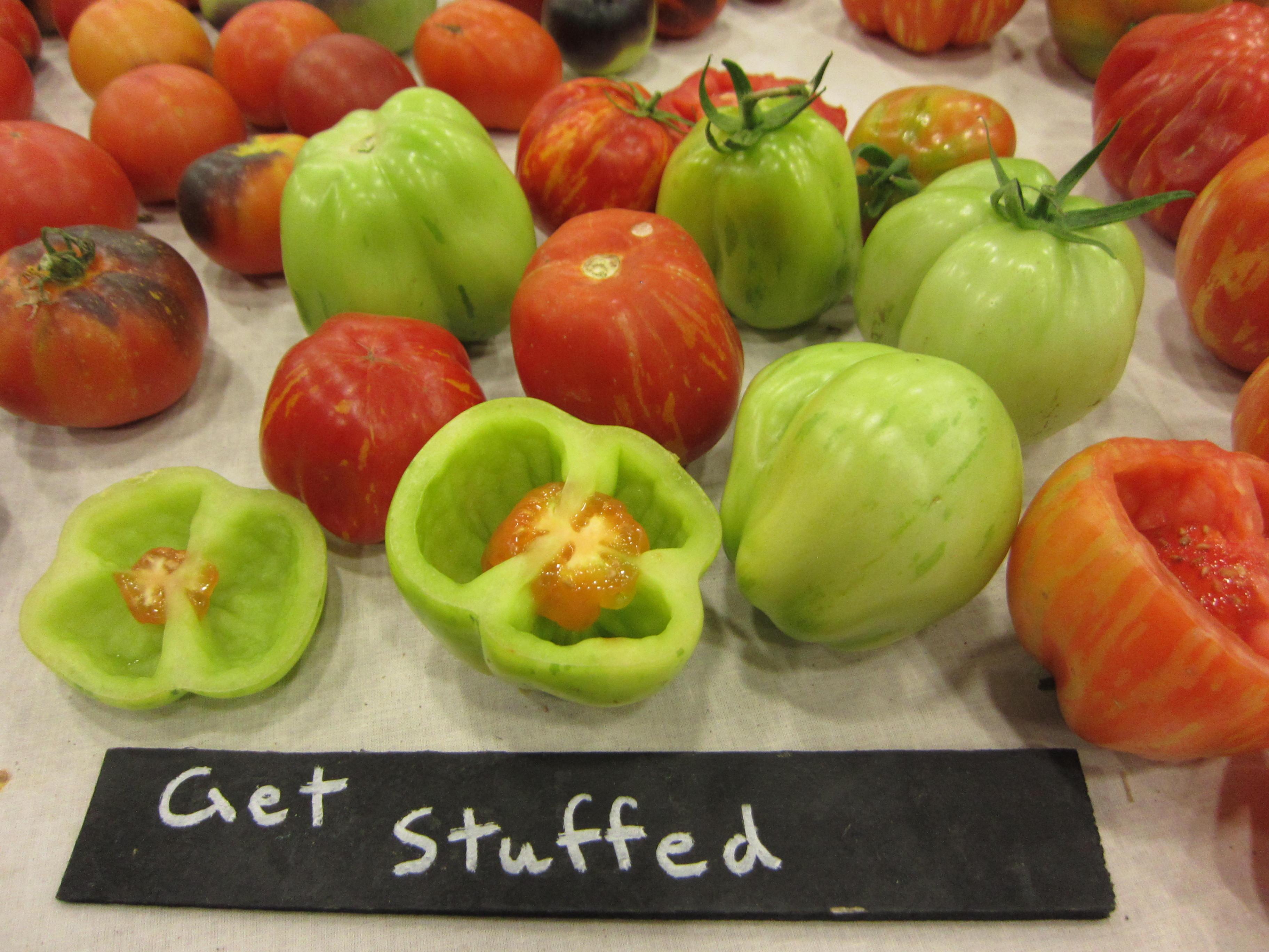 Heirloom Expo stuffing tomato