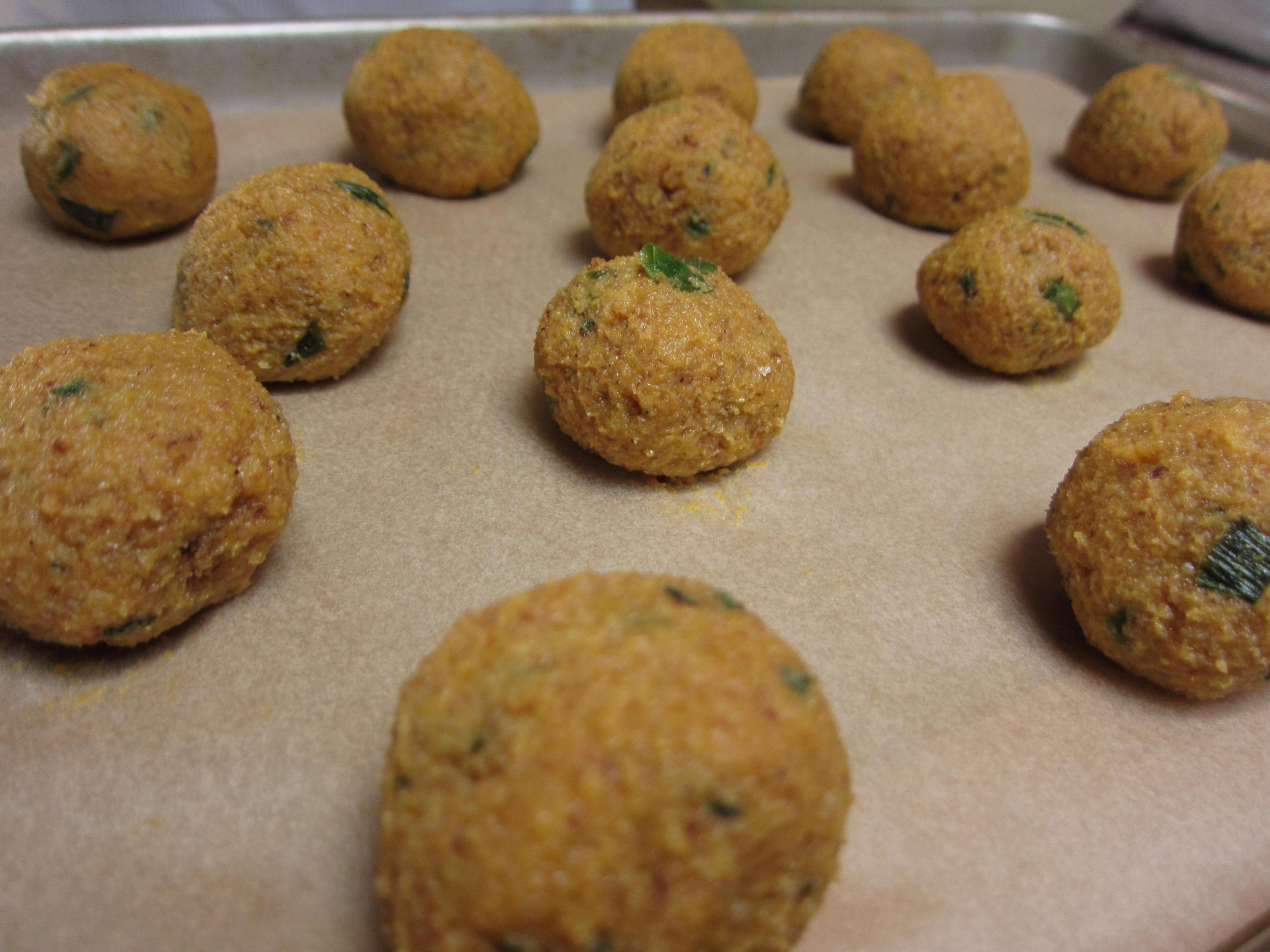 Pumpkin sage balls Formed