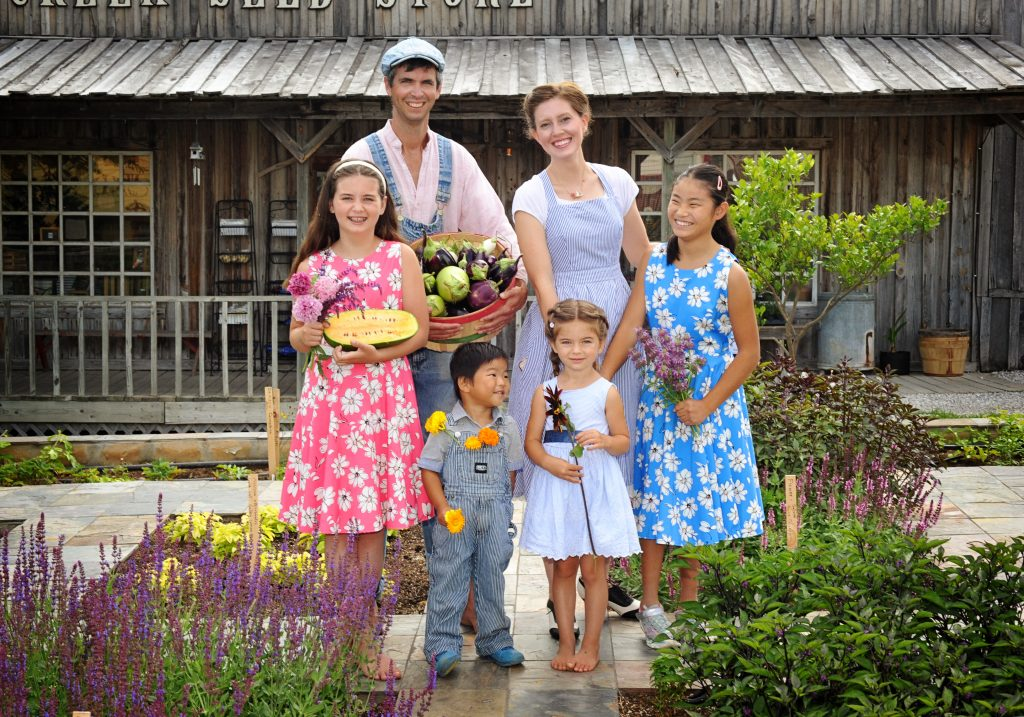 Gettle Family portrait Tile Garden