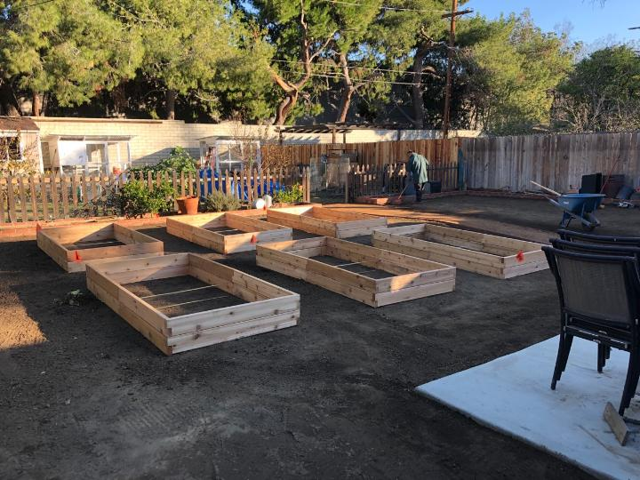 Flores raised beds during