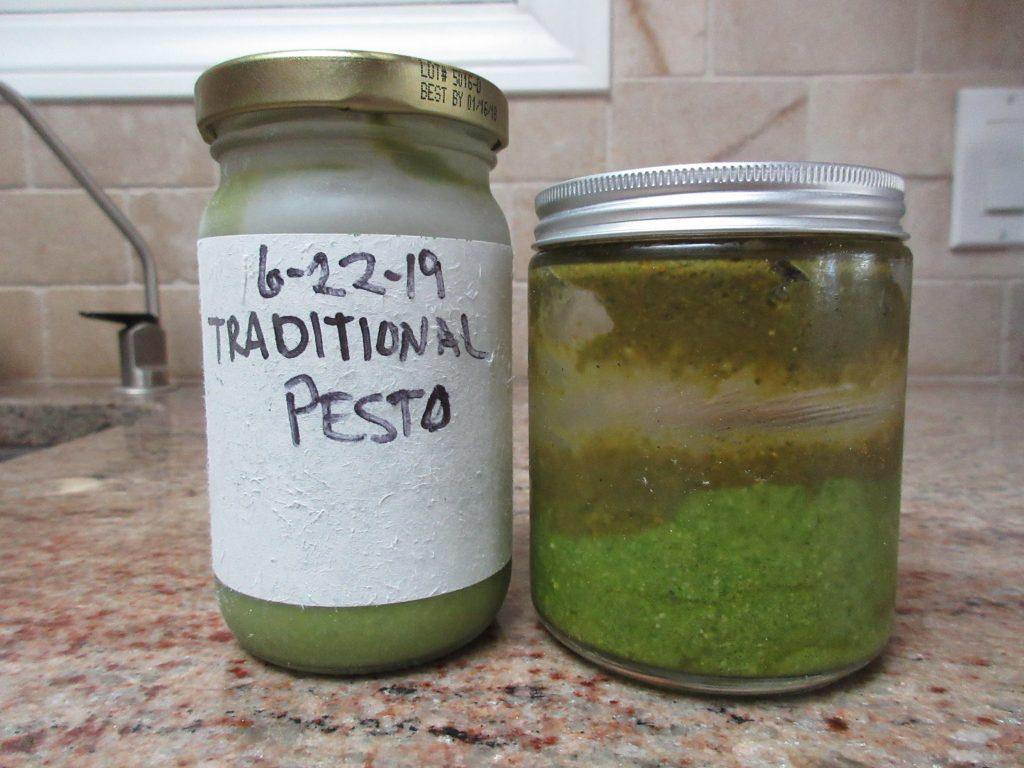 Home made basil pesto