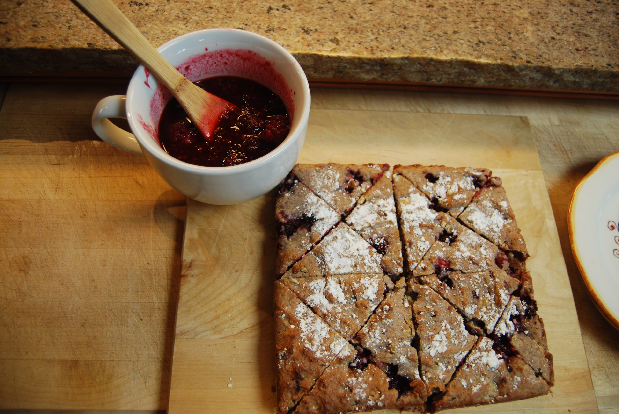 You are currently viewing Recipe: Blackberry Polenta Cake