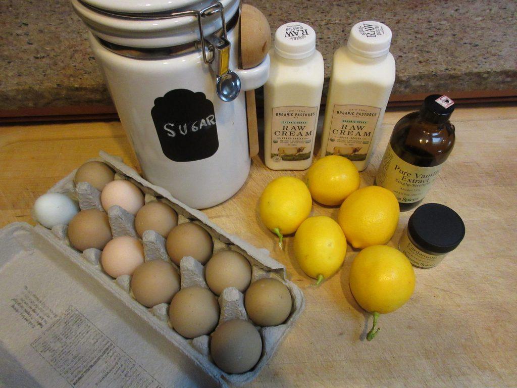 Lemon Cardamom Ice Cream Ingredients