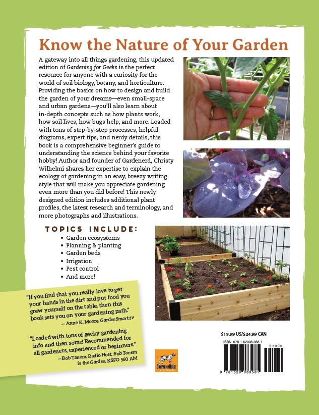 Gardening for Geeks back cover
