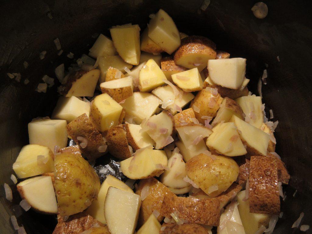 potatoes and shallots
