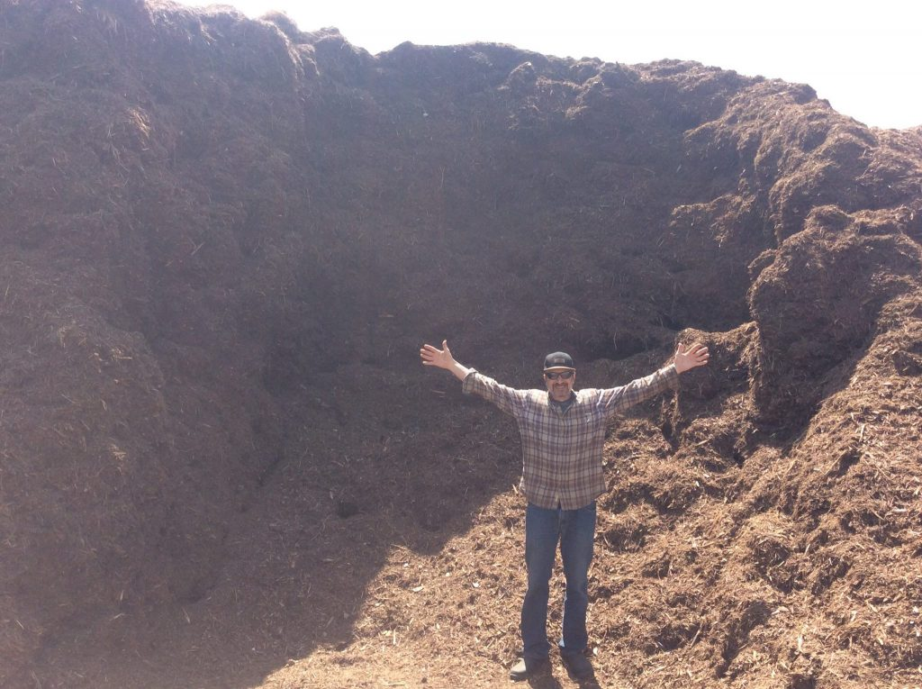 Eric Verbalowsky compost pile