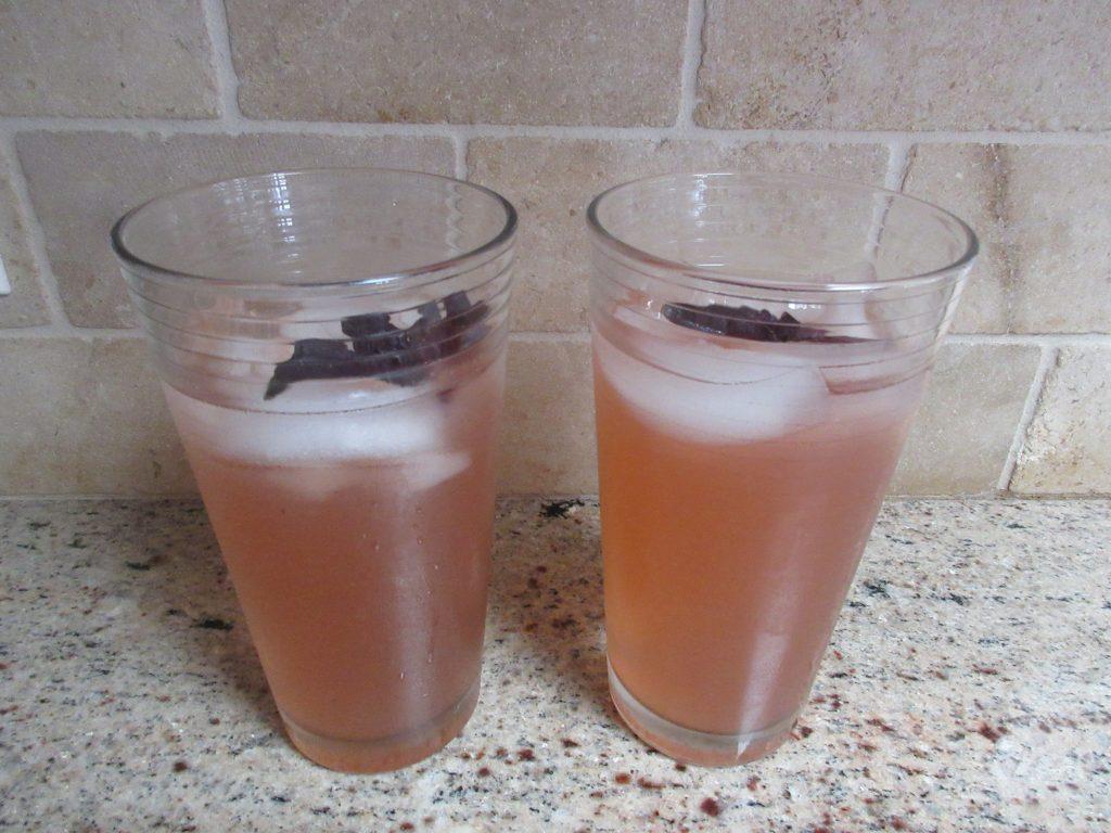 basil lemonade finished