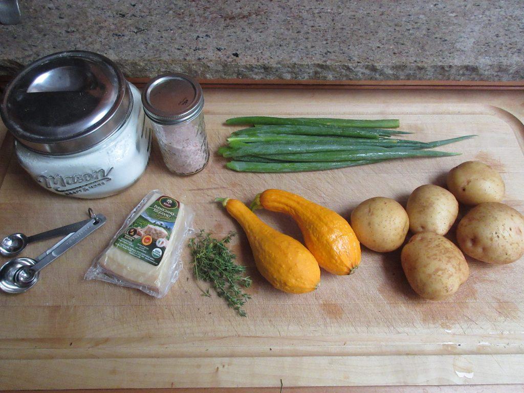 Summer squash torte ingredients