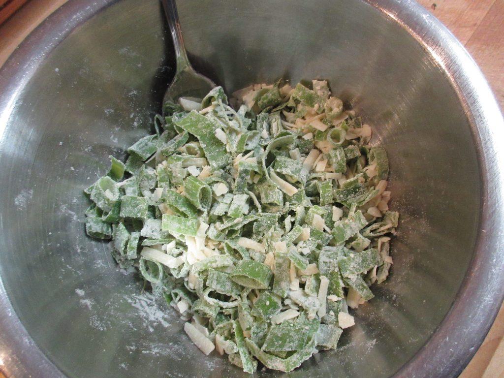 Summer squash torte cheese mix1